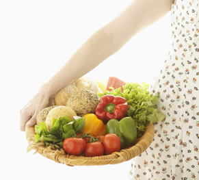 Basket of Natural and Healthy Foods